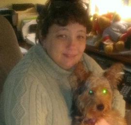 Kim with dog